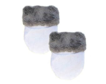 Grey Fur Pocket Cozy
