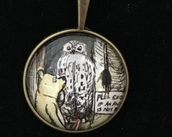 Winnie the Pooh and Owl Necklace