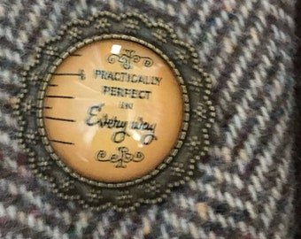 Mary Poppins 'Practically Perfect In Every Way' Brooch