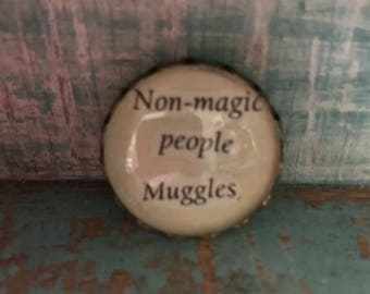 Harry Potter 'Non-magic people Muggles' Brooch