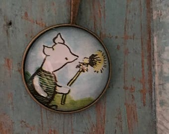Winnie the Pooh Piglet Necklace