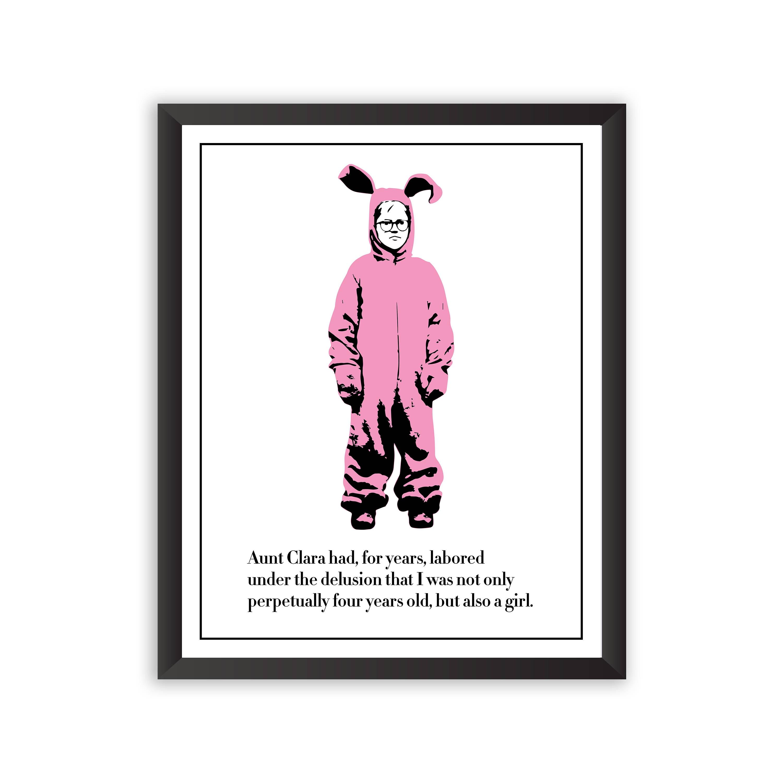Ein Weihnachten Geschichte Poster rosa Albtraum Poster Ralphie