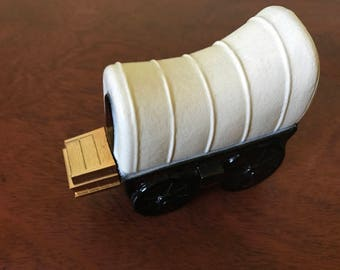 Vintage Avon Covered Wagon After Shave Decanter