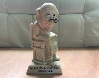 World's Greatest Grandpa Figurine by W&R Berries 1970
