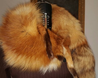 Real VINTAGE Red Fox stole