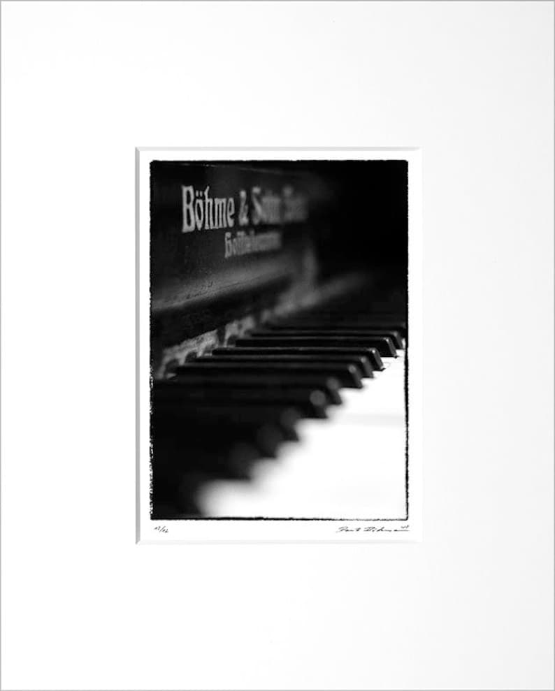 Danilo Böhme Piano Black and White Photography image 0