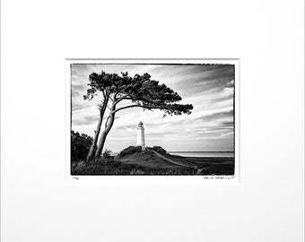 """Danilo Böhme """"Wind escape at the lighthouse"""", black and white photography, FineArt Print in PP, Original, Vintage Print, Limited, Signed"""