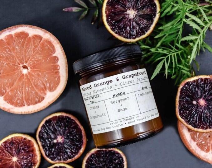 Blood Orange & Grapefruit Vegan Soy Wax Candle