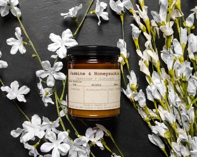 Jasmine & Honeysuckle Vegan Soy Wax Candle