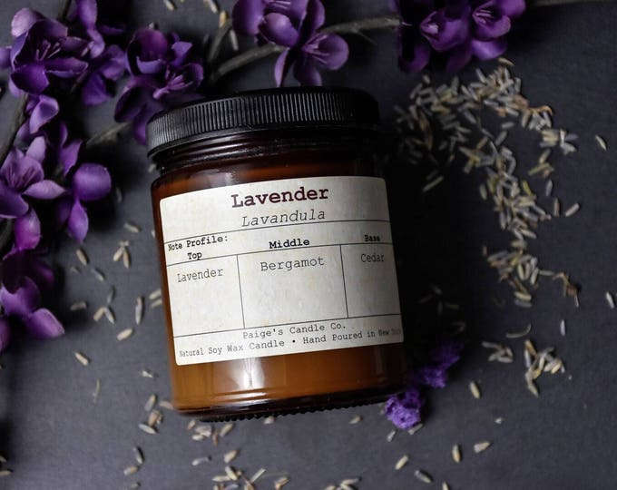Lavender Vegan Soy Wax Candle