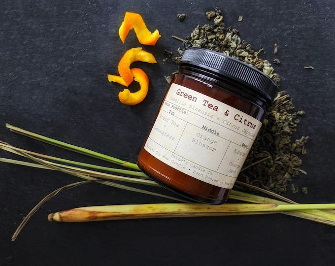 Green Tea & Citrus Soy Wax Candle