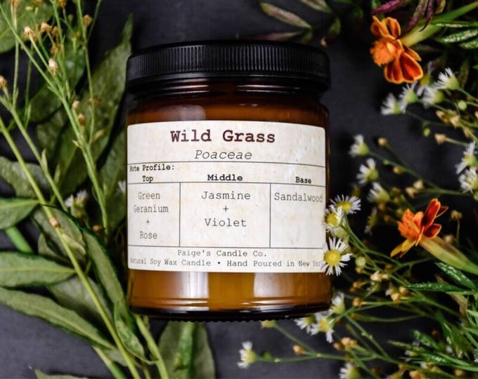 Wild Grass Vegan Soy Wax Candle