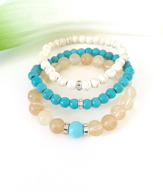 Dainty Labradorite Stacker    Gemstone Bracelet   Stacking Bracelet