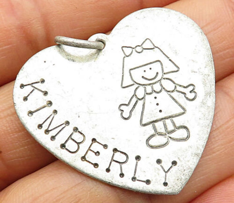 vintage kimberly love heart pendant p4526 Lucy ann 925 sterling silver
