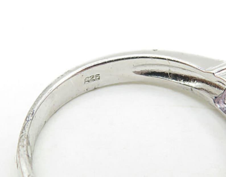 925 sterling silver prong set amethyst half eternity band ring sz 7 r7338