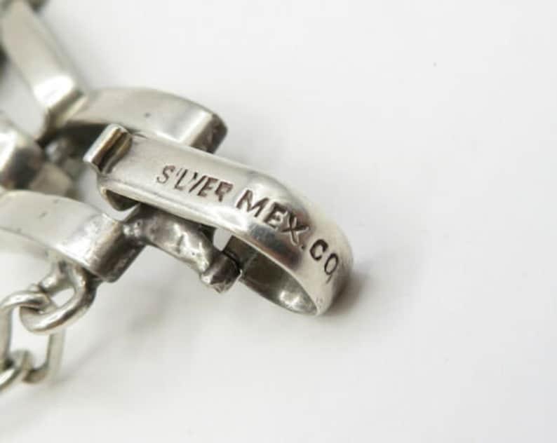 Mexico 925 sterling silver geometric rectangular cut out bracelet b1925