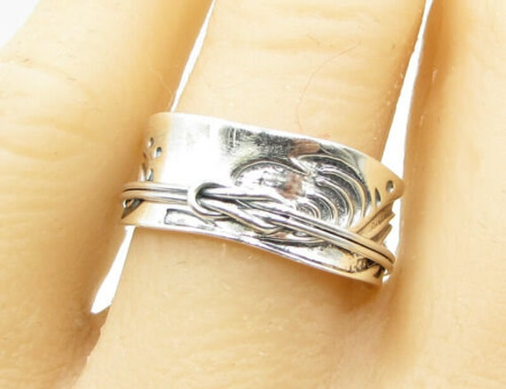 925 sterling silver - concave swirled slip knot de