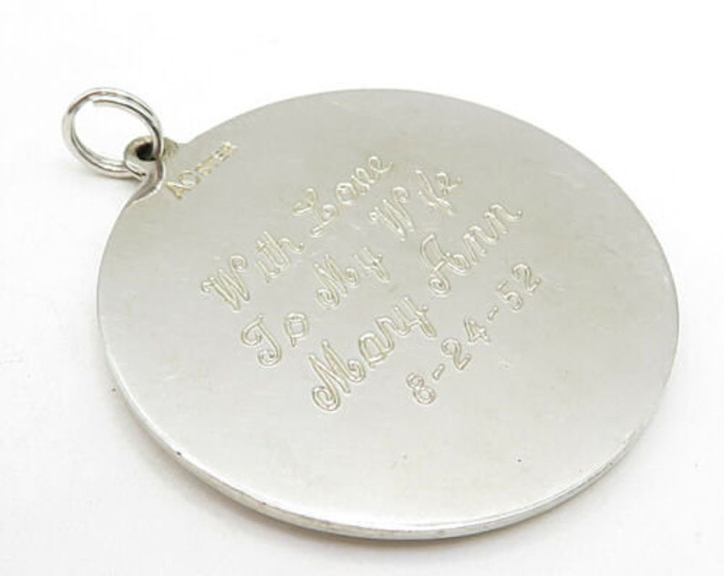p4518 vintage 25th anniversary quoted pendant 925 sterling silver