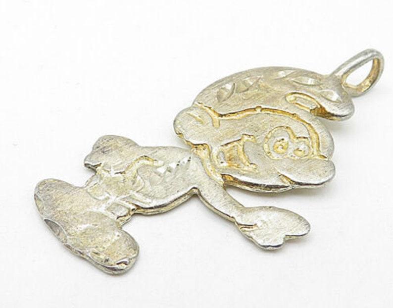 p5868 925 sterling silver vintage pointing smurf cartoon drop pendant