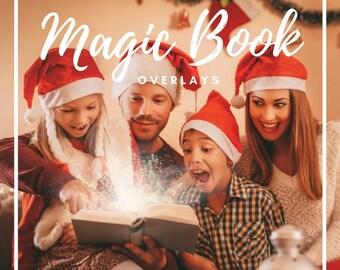 10 Magic Shine book overlays, Photoshop Overlay, Christmas overlays, Magic overlays, Christmas Lights, Christmas book, Digital backdrop