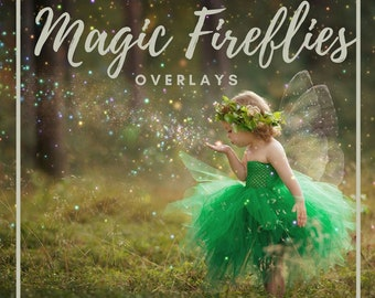 20 Firefly overlays, Photoshop Overlay, fireflies Overlays, Magic Overlays, Dust, fairy, mystic, lightning bug, Digital backdrop, Spring