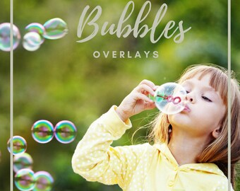 10 Bubbles Overlay, Blowing Bubbles Overlays, Photoshop Overlays, Soap Bubbles,  Bubble Overlay, Bubbles Photoshop Actions, digital backdrop