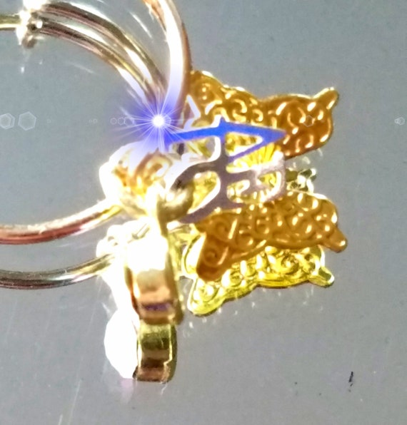 29d3aabd5 Charm ring Love ring Butterfly ring Ring with charms of | Etsy