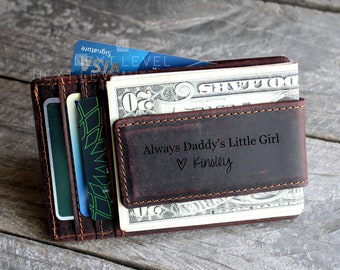 Money Clip Wallet Flag of Nicaragua Personalized Engraving Included