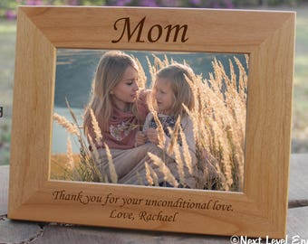 Mothers Day Gift for Daughter, Mom Gift from Daughter, Gift ideas for Mom Birthday Gift, Mother Gifts Personalized Picture Frame Wooden
