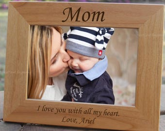 First Mothers Day Gift from Son, Mother Gift from Daughter, Mom Picture Frame, Mothers Day Frame, First Time Mom, Gift for Mom, 1st Time Mom