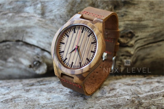 Valentine Gifts For Brother Engraved Watch Wooden Watches Etsy