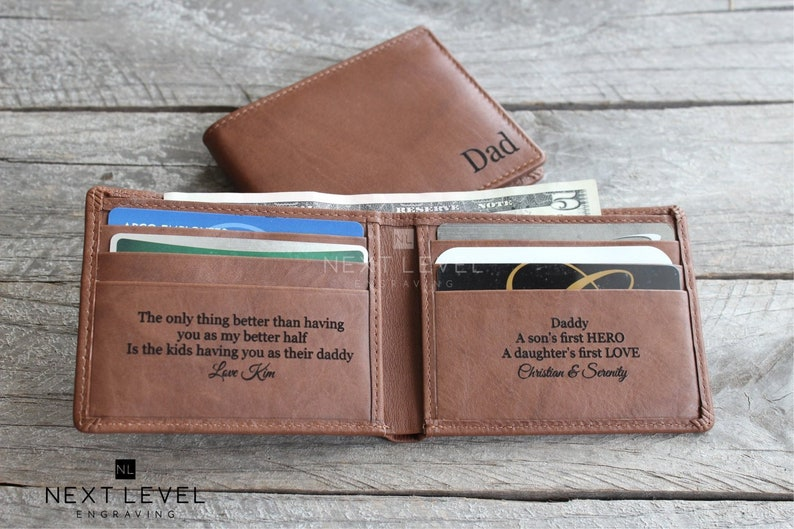 Custom Photo Wallet Personalized Men Leather Wallet,Husband Gifts Boyfriend Gifts Dad Gifts