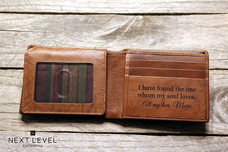 cc596f8b27115 Engraved Wallet for Husband Gifts for Him Gifts for Men Personalized  Fathers Day Gift for Boyfriend Mens Leather Wallet, Gift from Wife