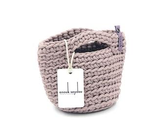 Clutch Bag Scandinavian Style Crochet Evening Bag Handmade Knitted Purse Handbag Gift for Her DUSTY LAVENDER color