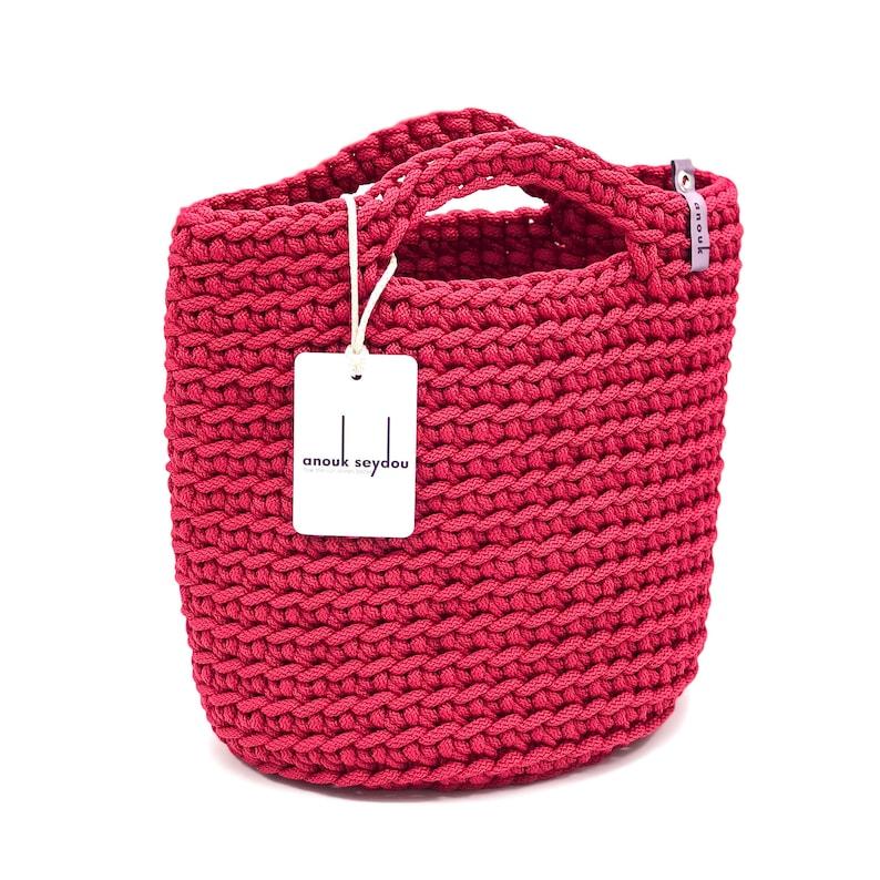 Tote Bag Scandinavian Style Crochet Tote Bag Handmade Bag image 0