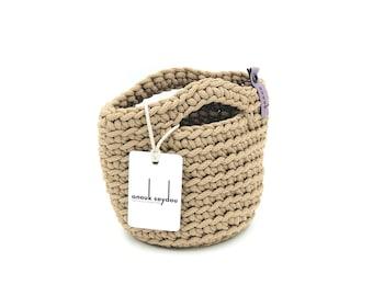 Clutch Bag Scandinavian Style Crochet Evening Bag Handmade Knitted Purse Handbag Gift for Her WHITE COFFEE color