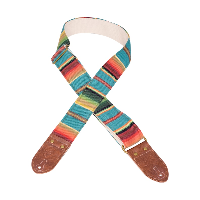 Turquoise Saddle Blanket Guitar Strap image 0