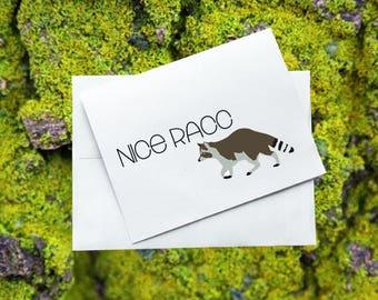 Greeting Card - Nice Racc