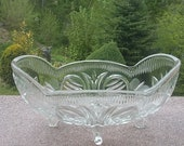 Antique french table glass planter