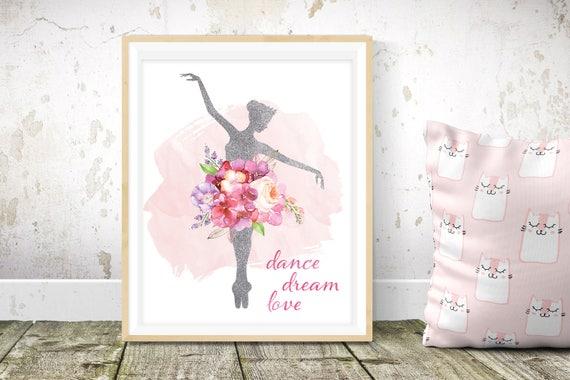 Ballerina gift ballerina wall art meisjes kamer decor etsy