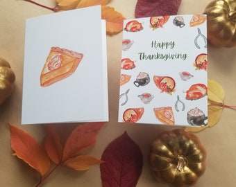 Thanksgiving watercolor greeting card pack