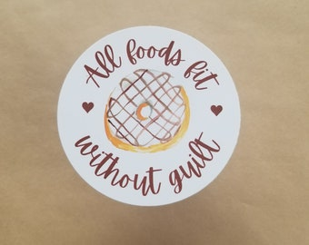 All Foods Fit Without Guilt anti diet culture donut sticker