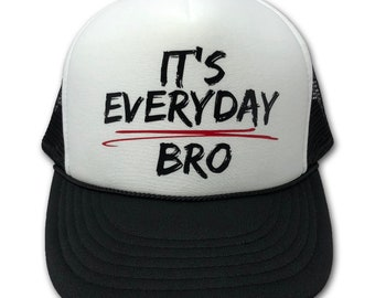 396890aa5a0 Boys Trucker Hat It s Everyday Bro Kids Baseball Hat Urban Kids Style  Snapback Jake Paul Team 10