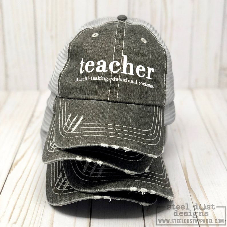 21967d2edef86 Teacher Hat Trucker Hat Snapback Hat Teacher Definition