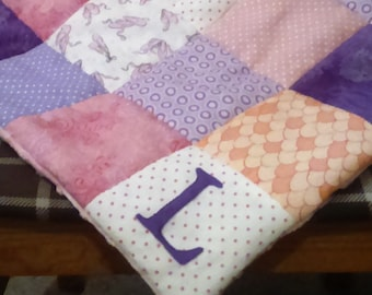 Patchwork Blanket/ Patchwork Quilt/ Pram Quilt/ Lap Quilt/ Baby Boy/ Girl/ Neutral/ Baby Blanket/ Squares/ Cotton