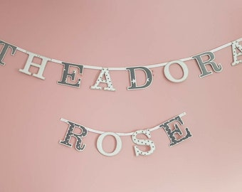 Name Garland/Bunting/Letter Garland/Nursery/Bedrooom Decoration