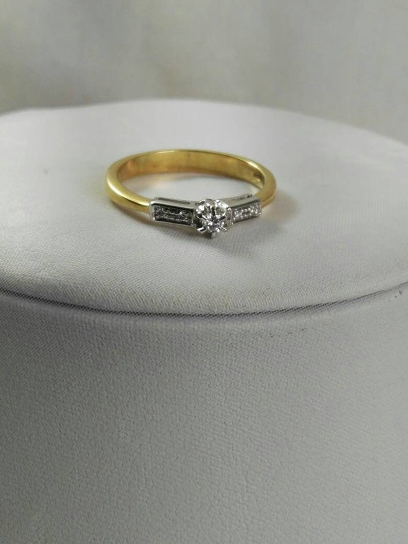 Love Ring Natural Diamond Bride Jeweles Wrapped Wire, Luxuria Ring 18k Yellow Gold Wedding Ring 18k White Gold Princes Ring Ring