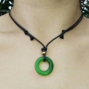 Yellow Gold Faceted Green Jade Wrapped Wire Handmade Necklace Pendant Gemstones Wire, Black Choker Blue Choker