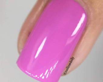 "Nail Polish - Hot Pink - ""Hold on while I kiss this guy""  Fuchsia Cream"