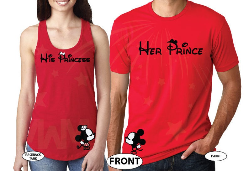 fea60d3029 Disney Her Prince and His Princess Mickey Minnie Mouse | Etsy